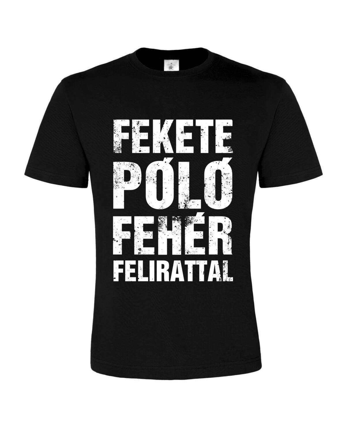Fekete póló fehér felirattal férfi - Póló - Penta Shop 80f4413de6