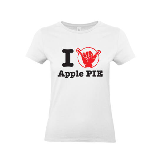 I love Apple PIE női póló